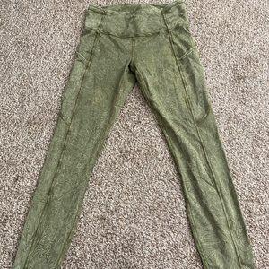 Lululemon Fast & Free Tye Dye leggings